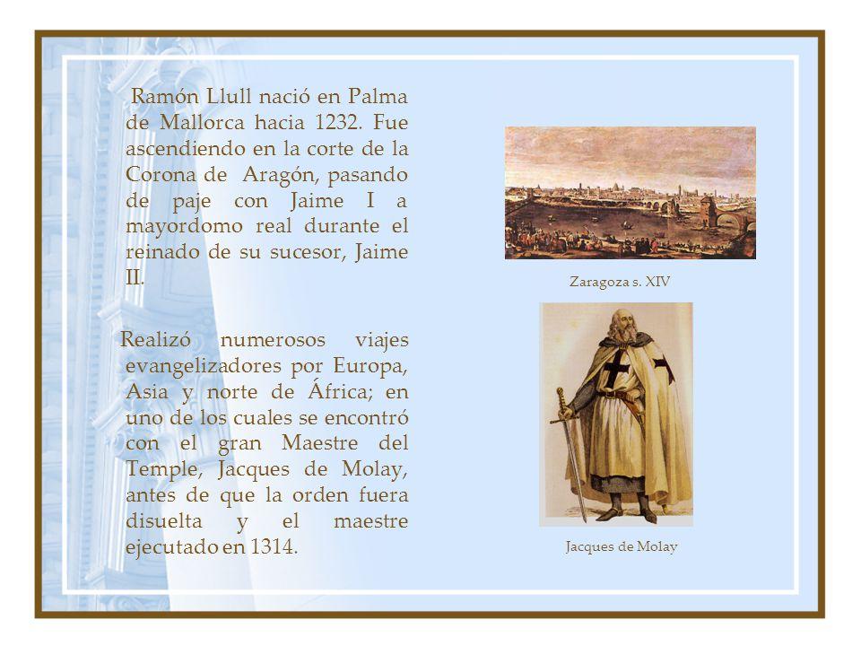 Ramón Llull nació en Palma de Mallorca hacia 1232