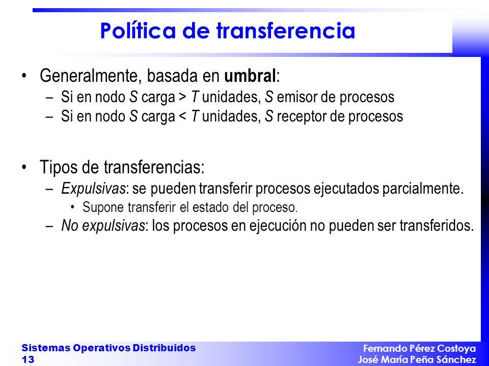 Política de transferencia