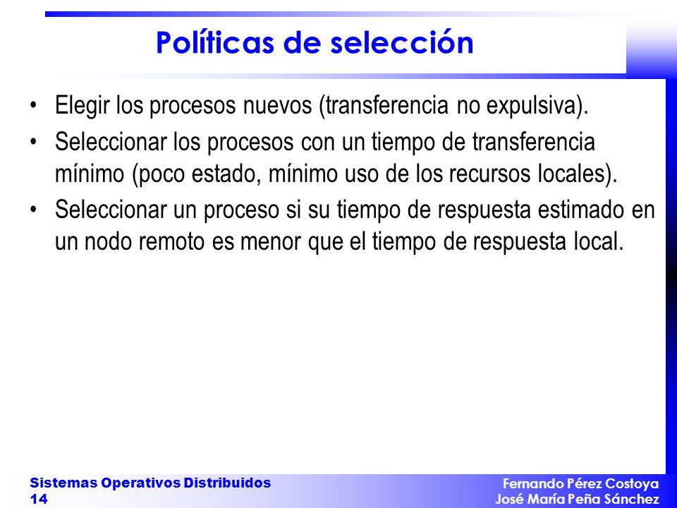 Políticas de selección