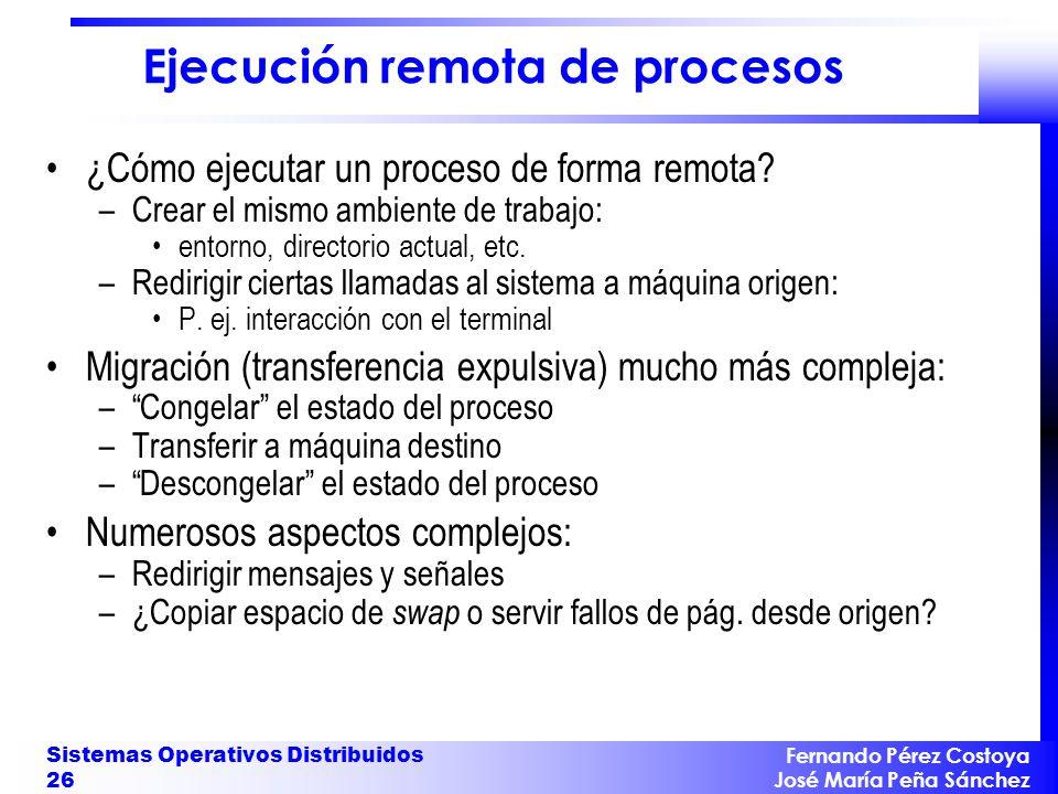 Ejecución remota de procesos