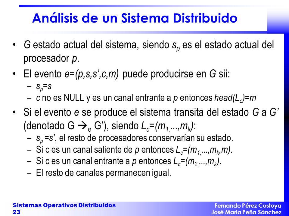Análisis de un Sistema Distribuido