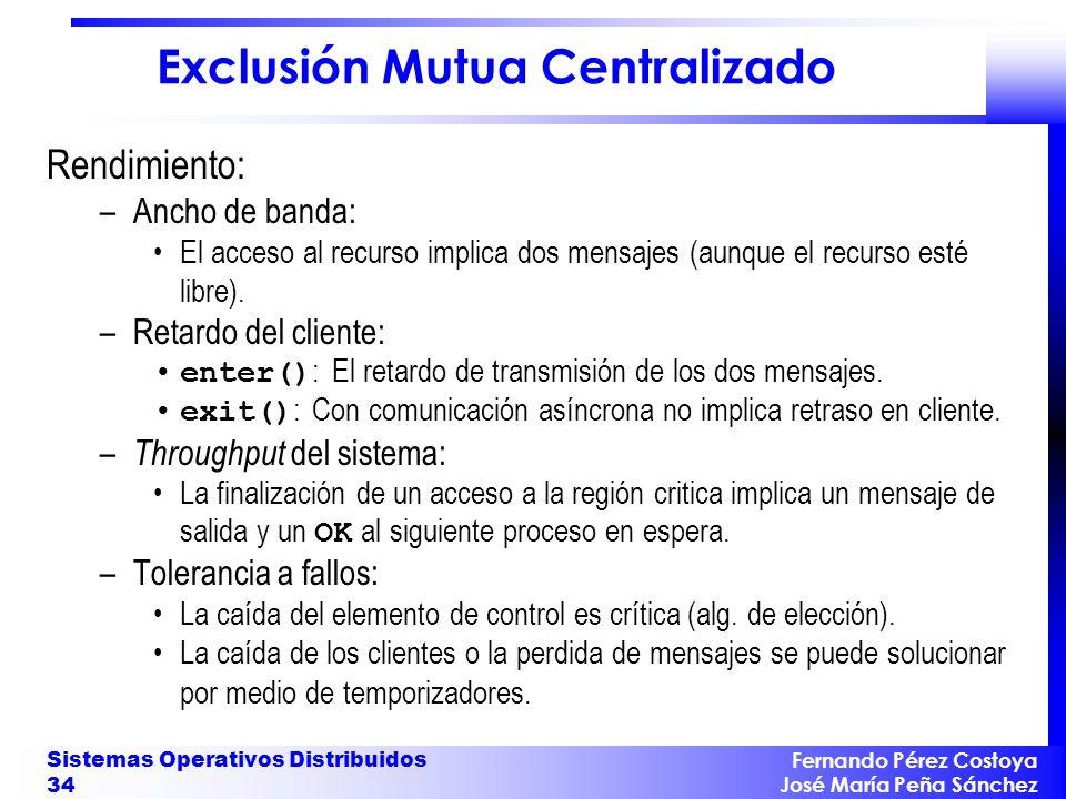 Exclusión Mutua Centralizado