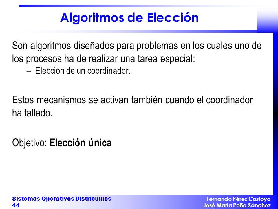 Algoritmos de Elección