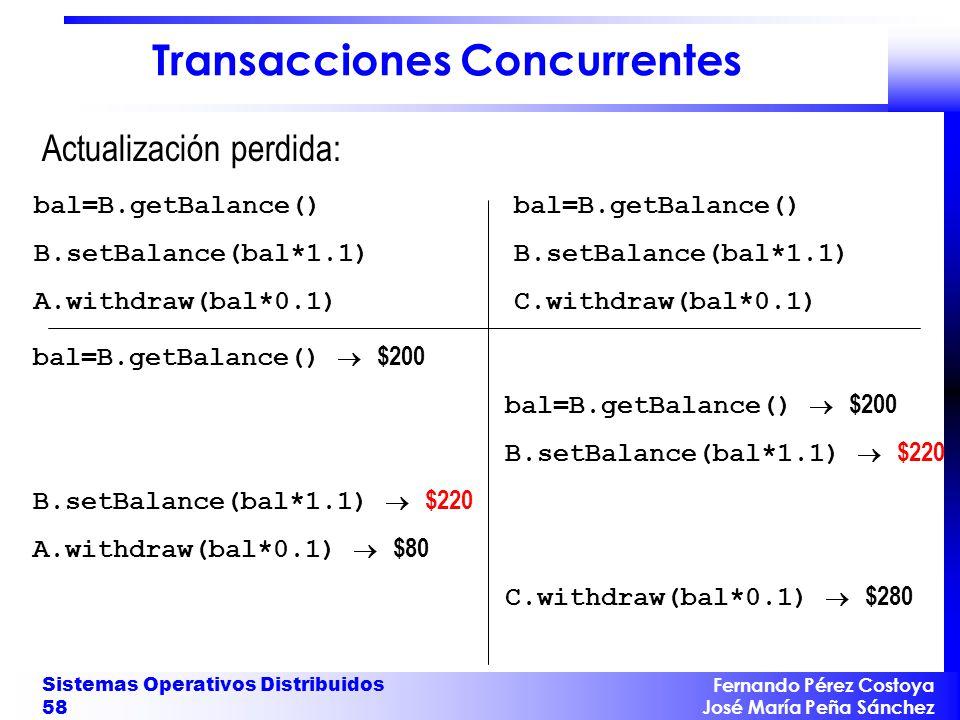 Transacciones Concurrentes