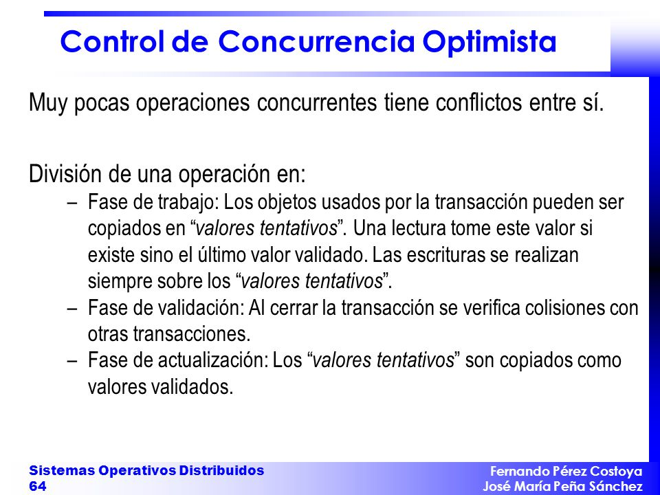 Control de Concurrencia Optimista