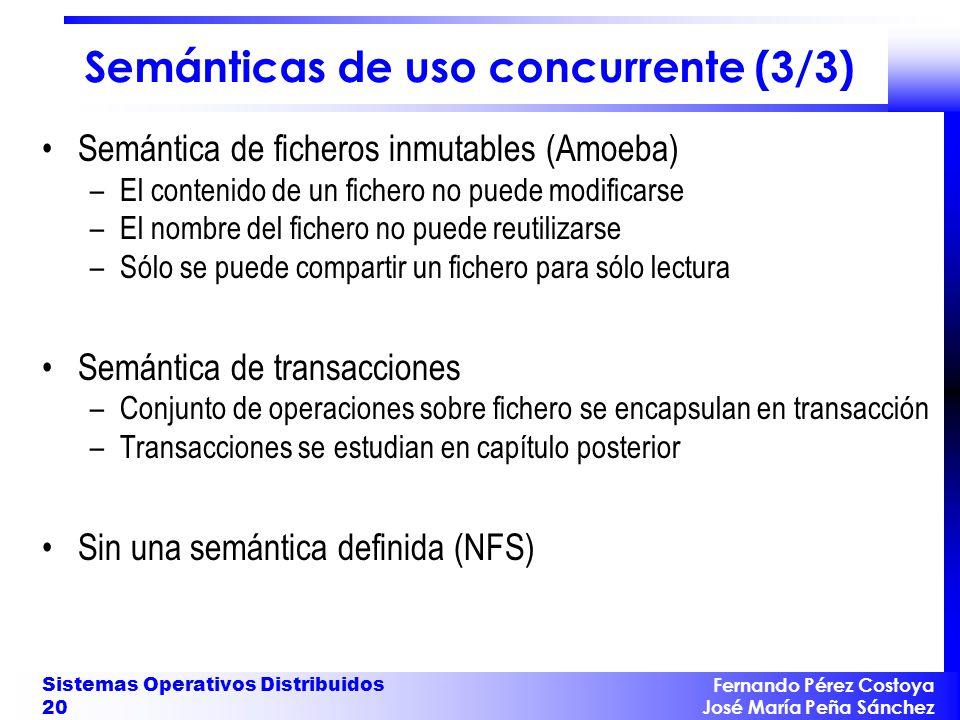 Semánticas de uso concurrente (3/3)