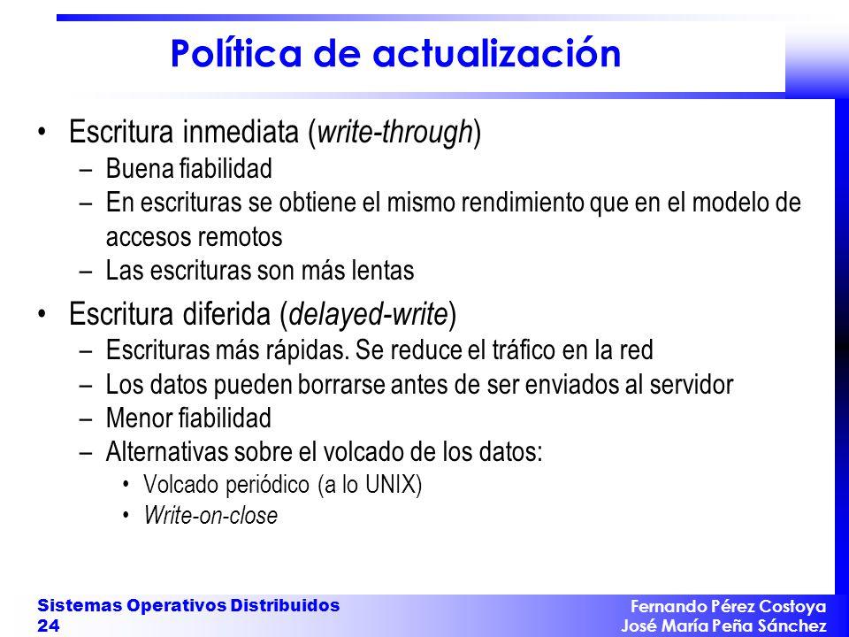 Política de actualización