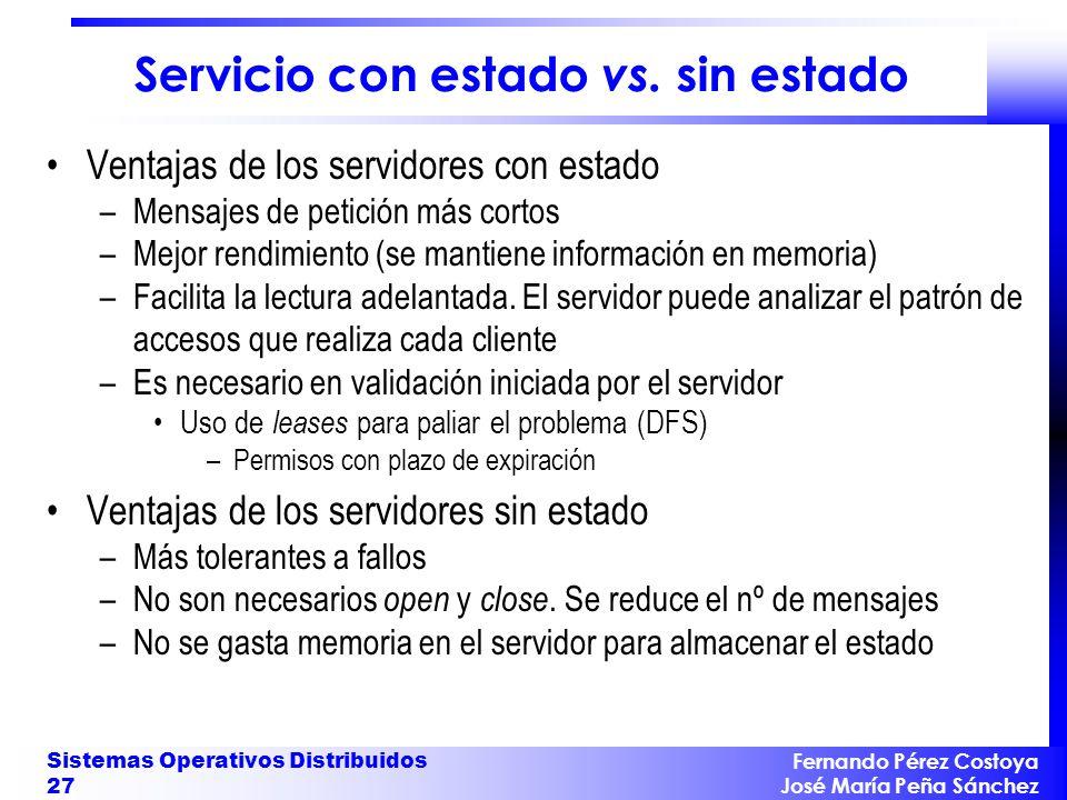 Servicio con estado vs. sin estado