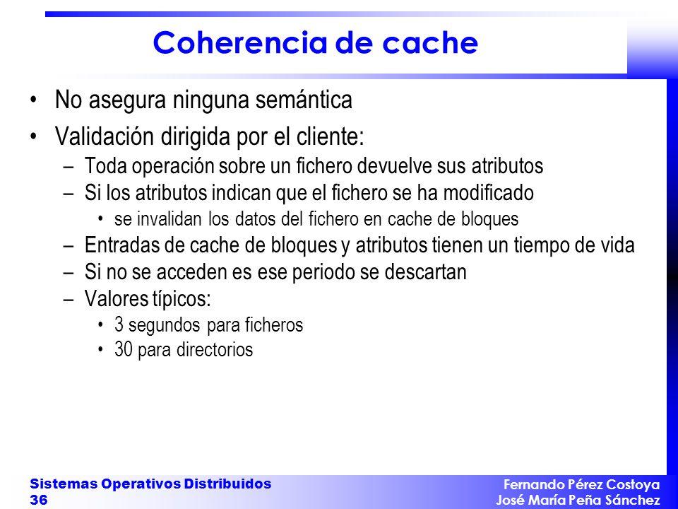 Coherencia de cache No asegura ninguna semántica