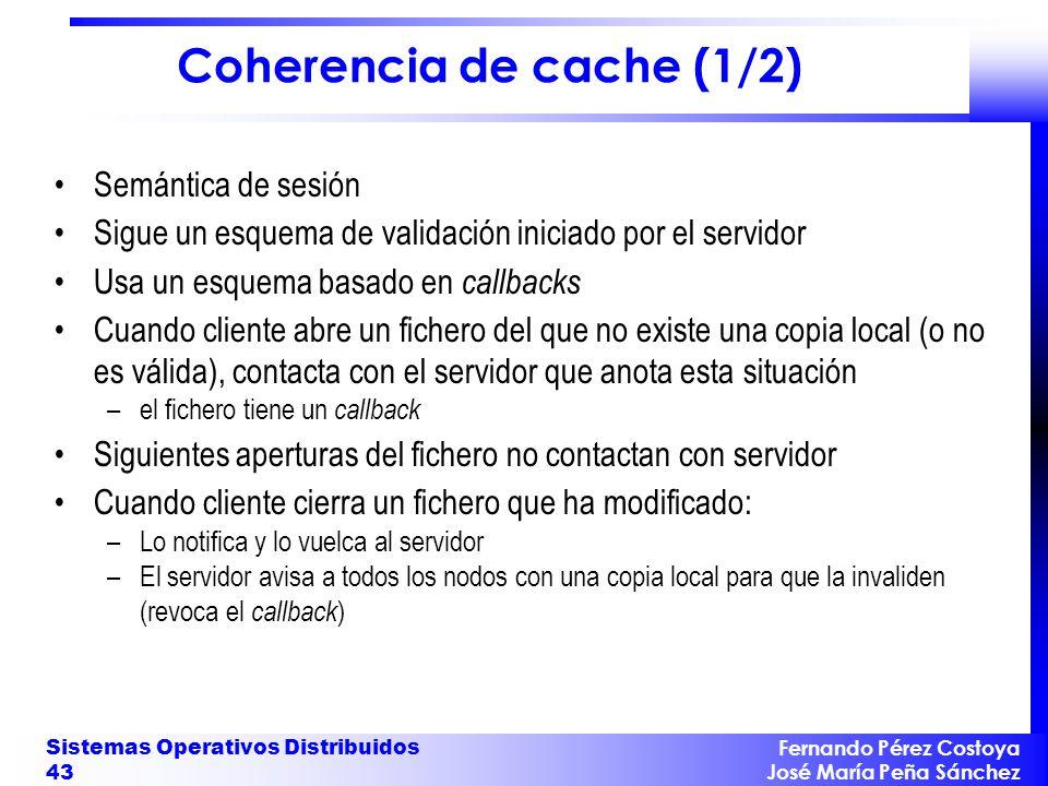 Coherencia de cache (1/2)