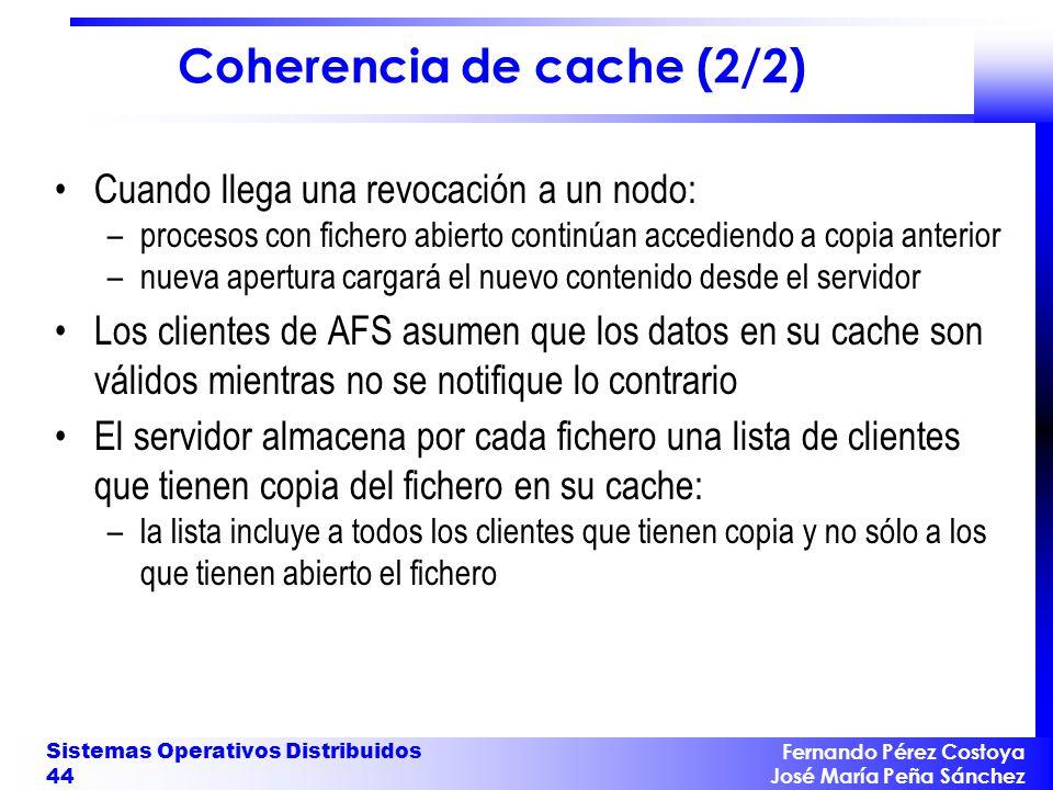 Coherencia de cache (2/2)
