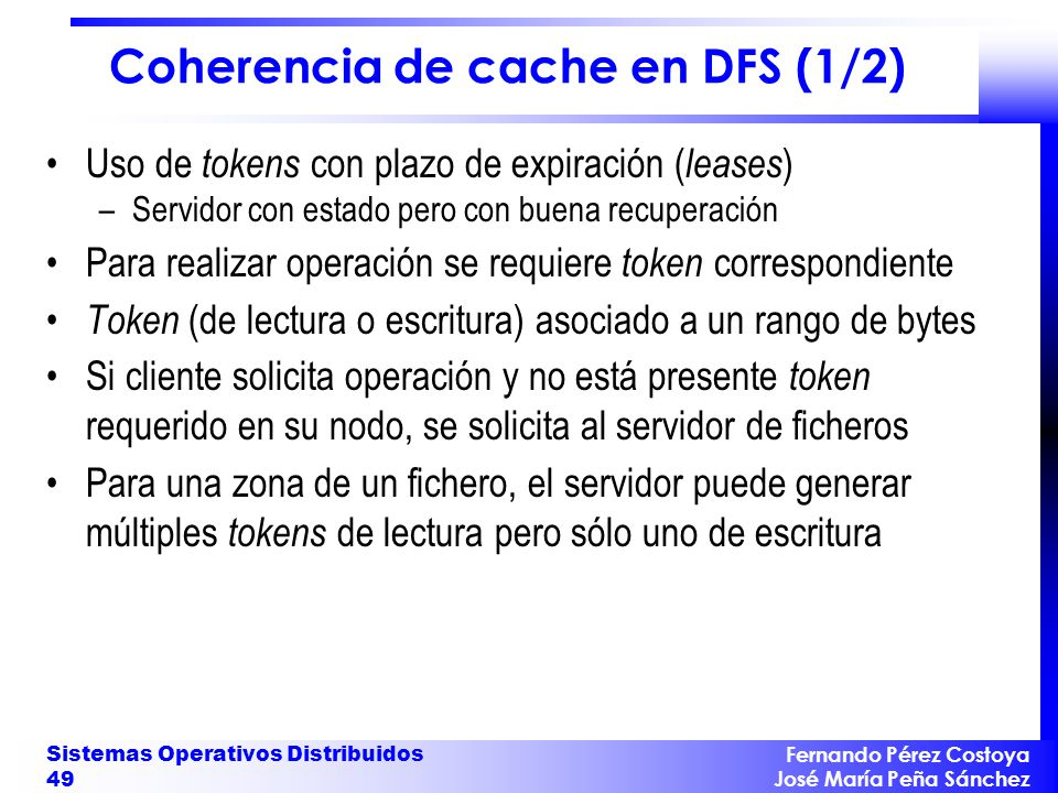 Coherencia de cache en DFS (1/2)