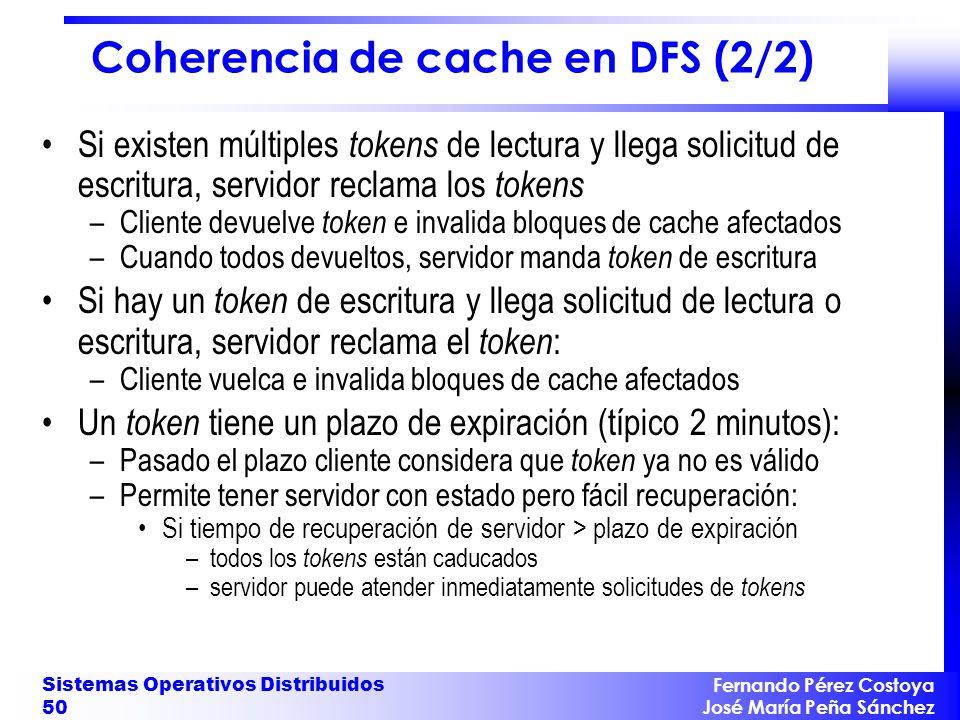 Coherencia de cache en DFS (2/2)