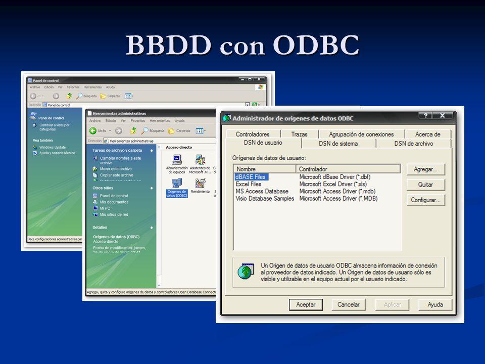 BBDD con ODBC