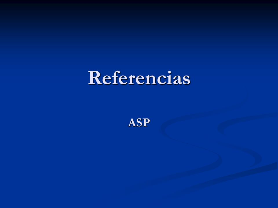 Referencias ASP