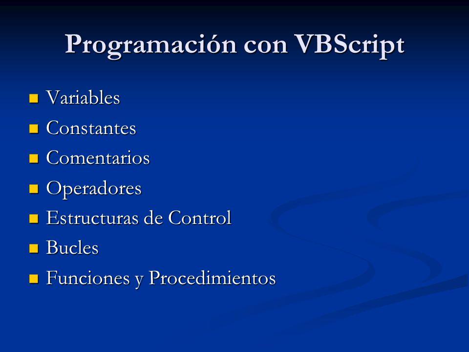 Programación con VBScript