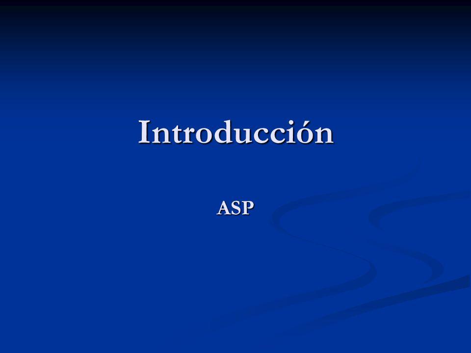 Introducción ASP