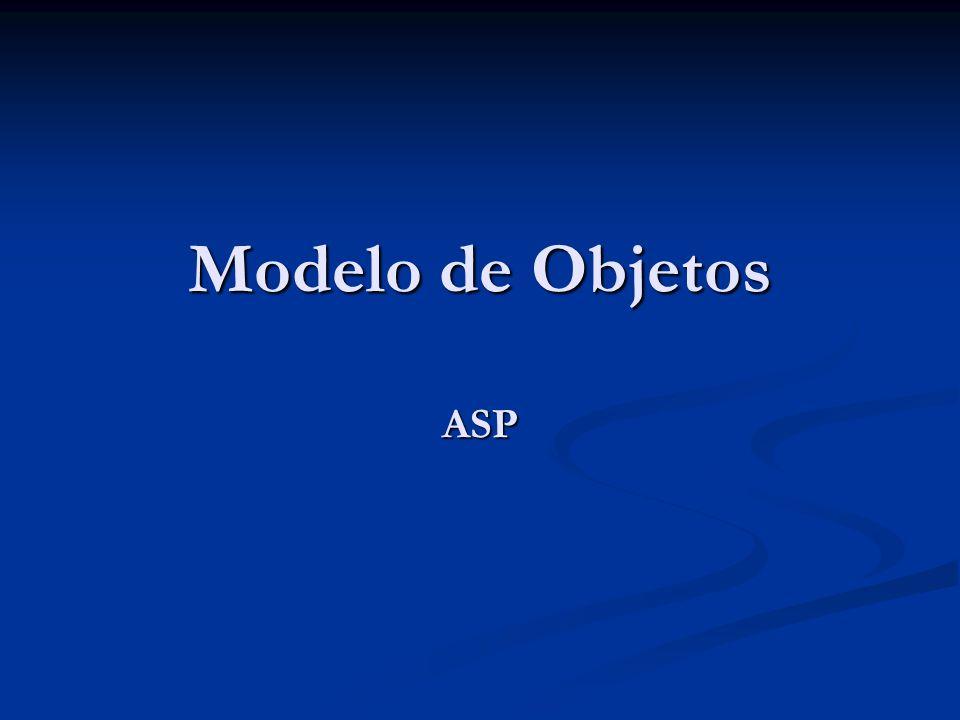 Modelo de Objetos ASP