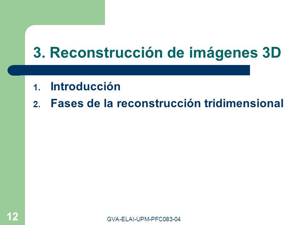 3. Reconstrucción de imágenes 3D