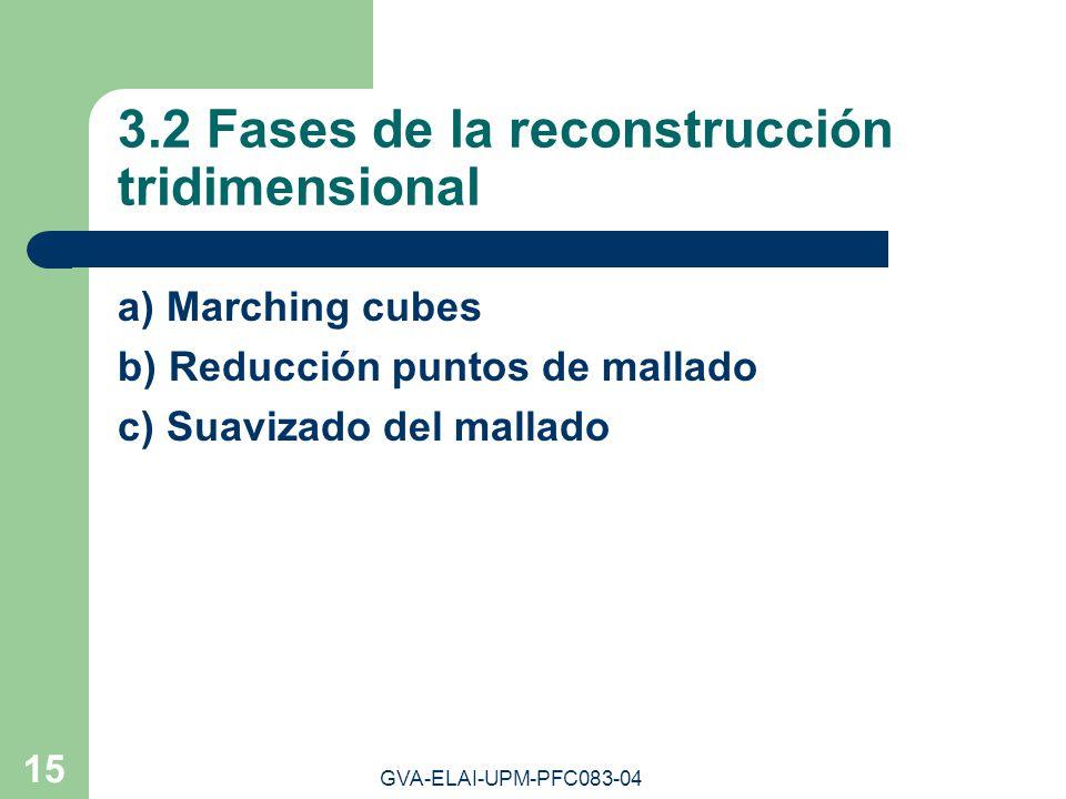 3.2 Fases de la reconstrucción tridimensional