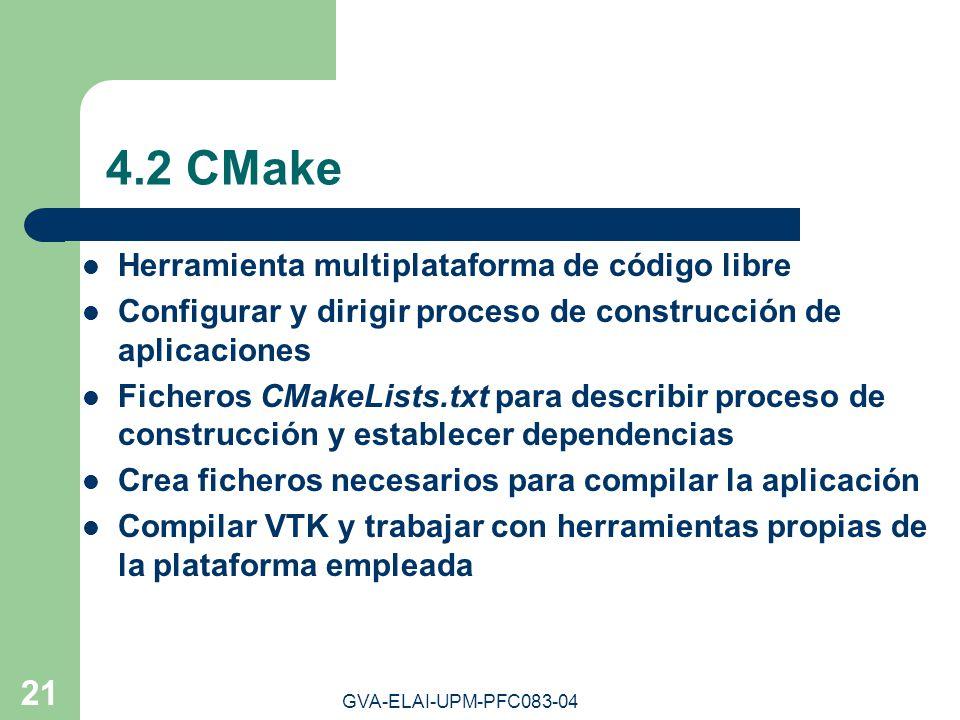 4.2 CMake Herramienta multiplataforma de código libre