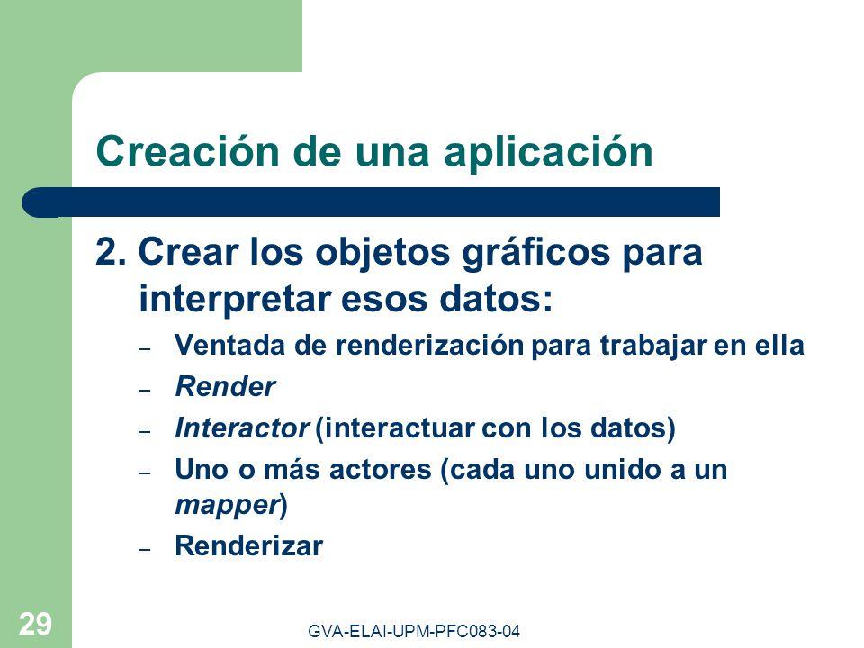 Creación de una aplicación
