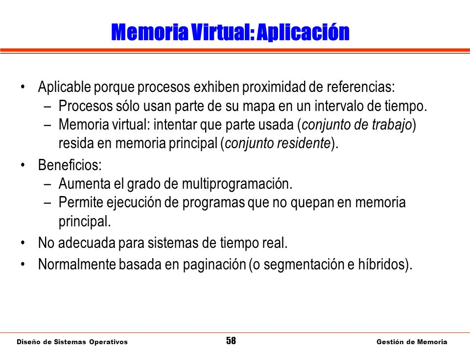 Memoria Virtual: Paginación por demanda