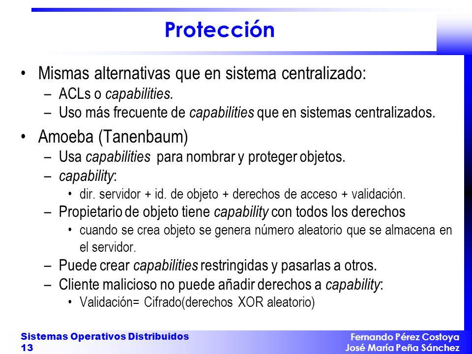Protección Mismas alternativas que en sistema centralizado: