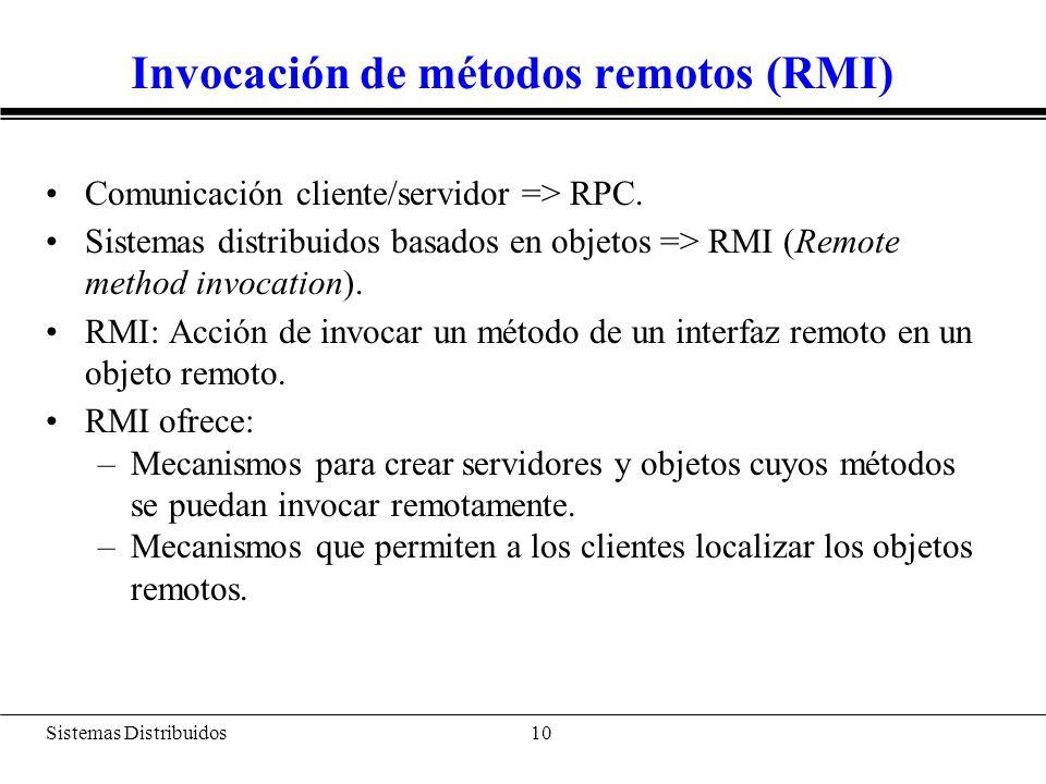 Invocación de métodos remotos en Java