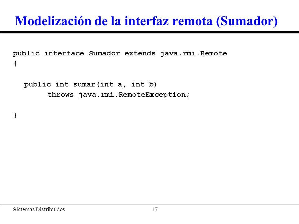 Clase que implementa la interfaz (SumadorImpl)