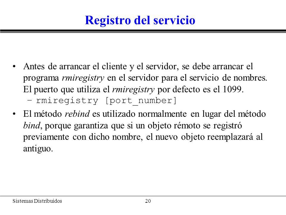 Código en el cliente (SumadorClient)