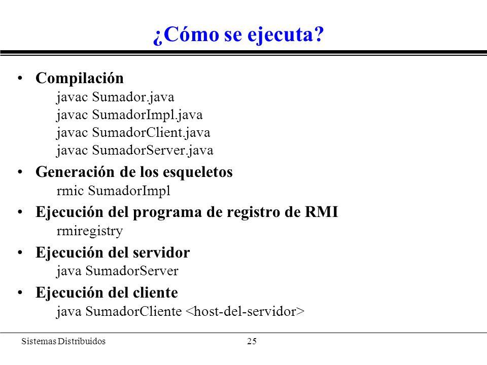 Java RMI vs CORBA Java RMI es más sencillo: