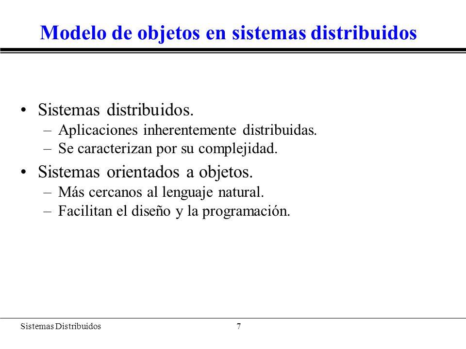 Modelo de objetos en sistemas distribuidos