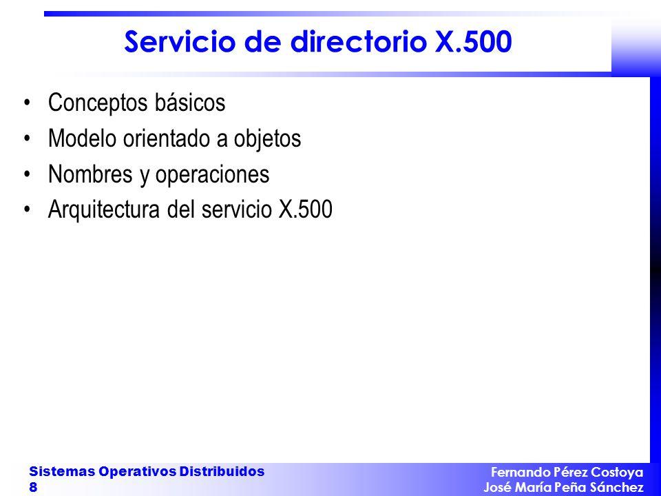 Servicio de directorio X.500