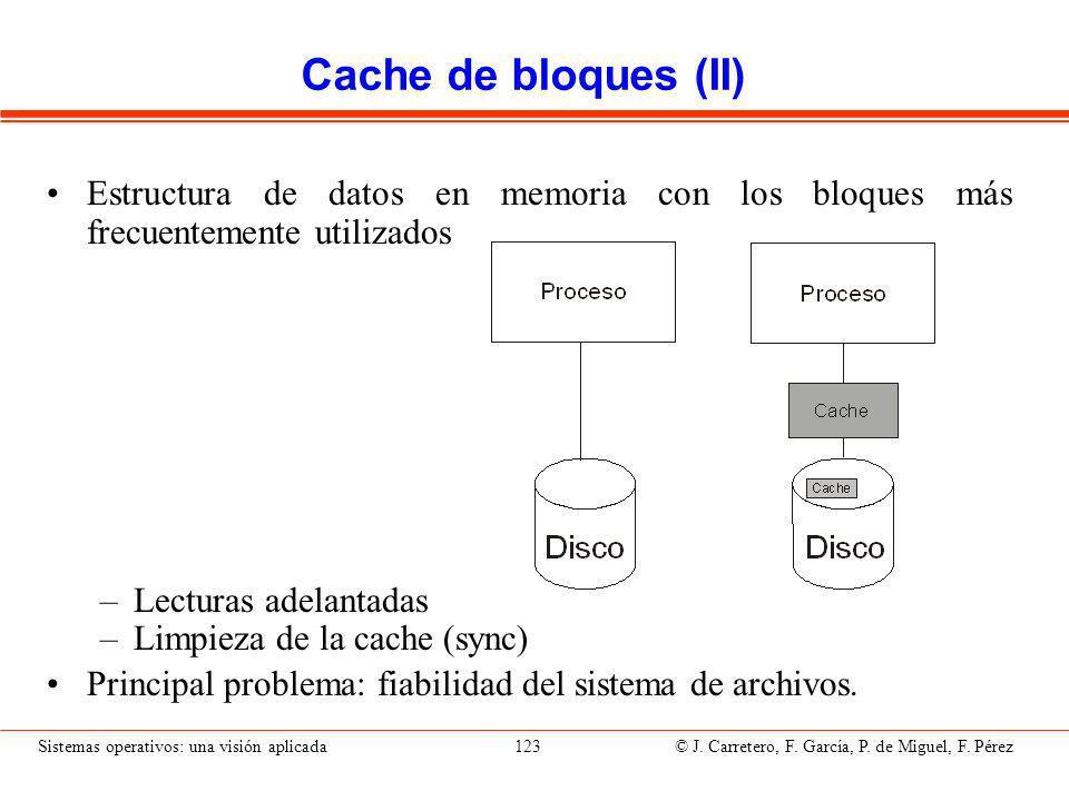 Flujo datos con cache de bloques
