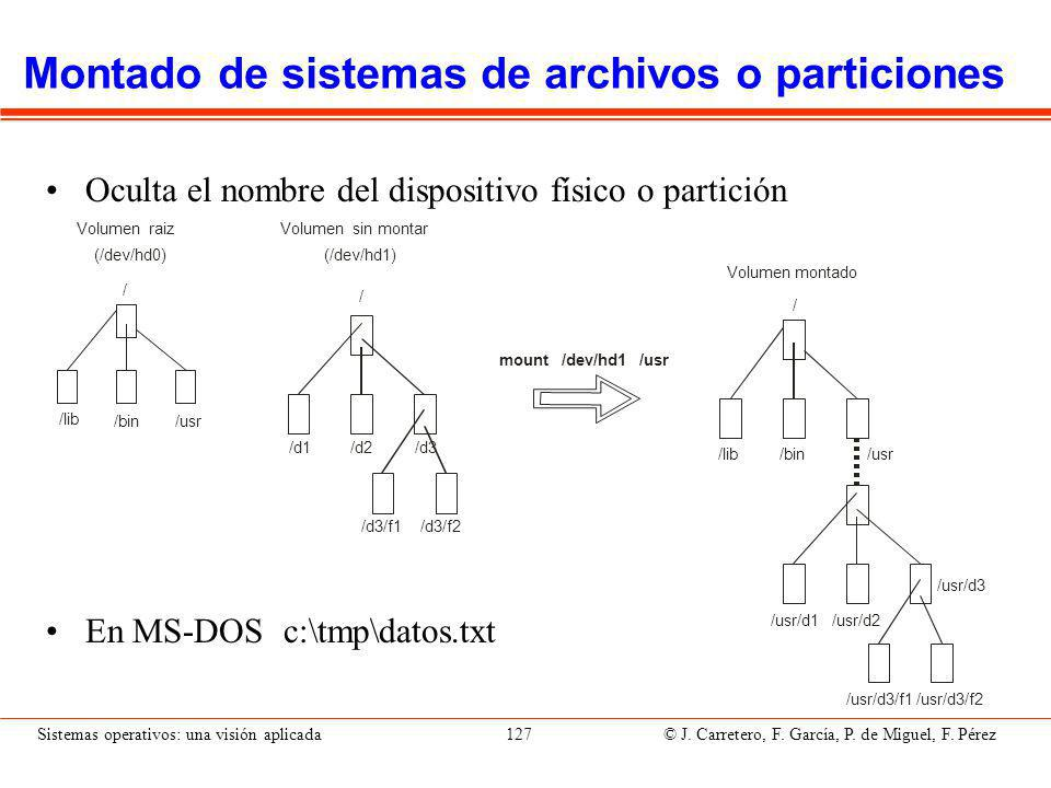 Enlaces Permite que dos o más nombres hagan referencia al mismo archivo. Dos tipos: Enlace físico.