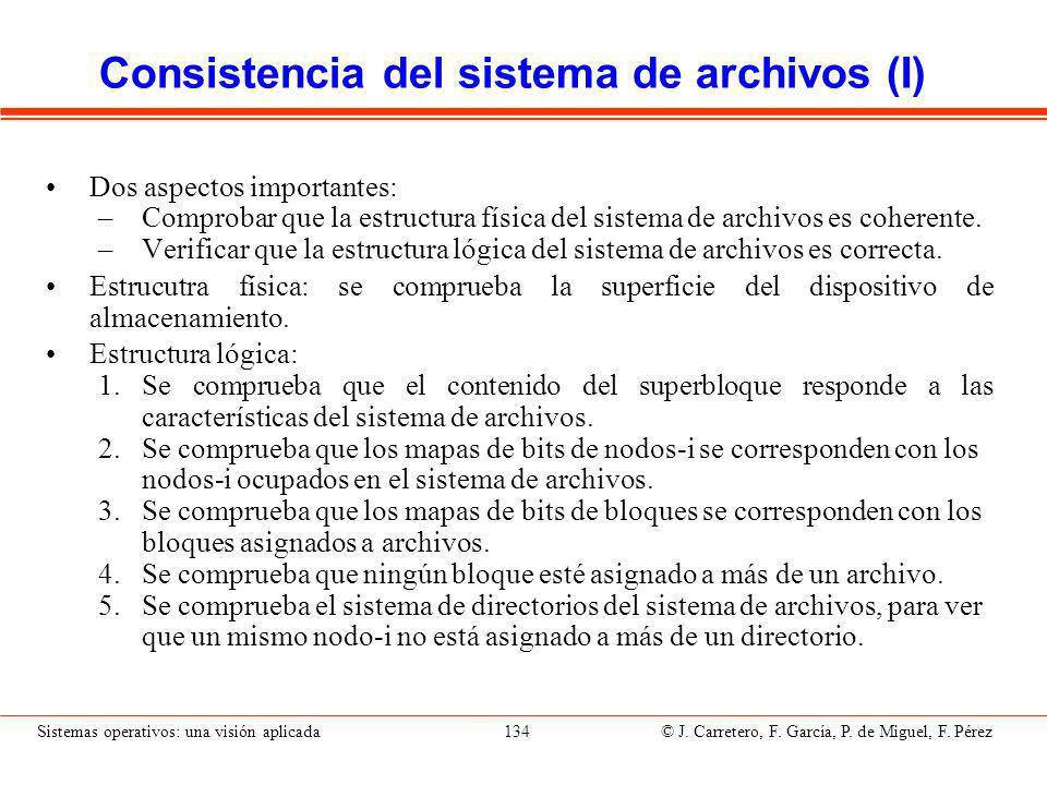 Consistencia del sistema de archivos (II)