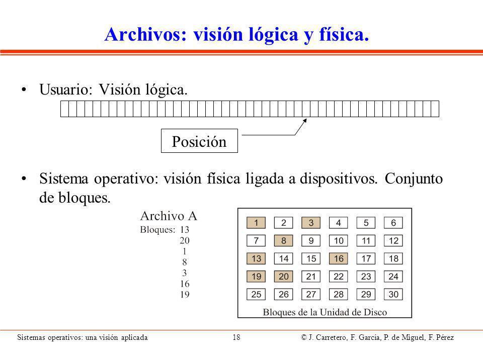 Archivos: visión física