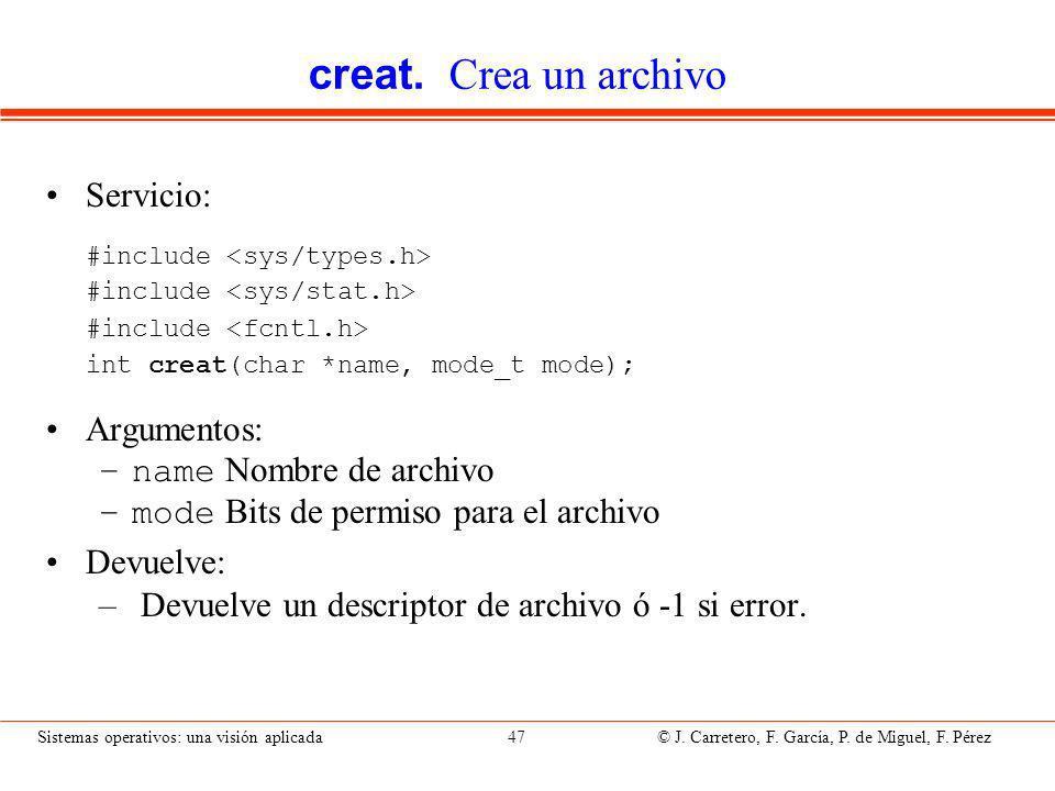 creat. Crea un archivo (II)