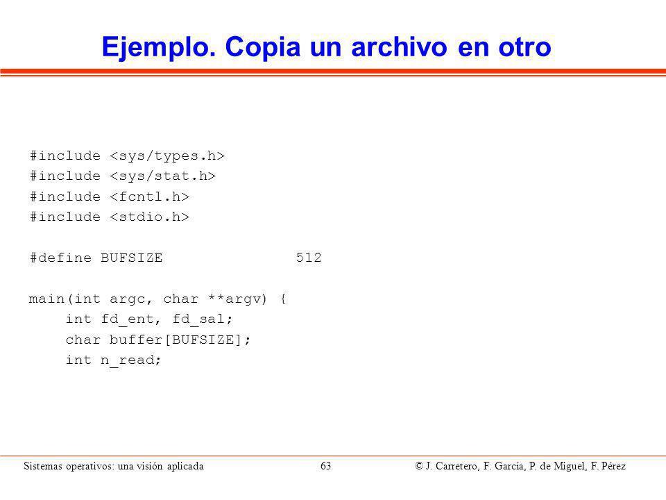 Ejemplo. Copia un archivo en otro (II)