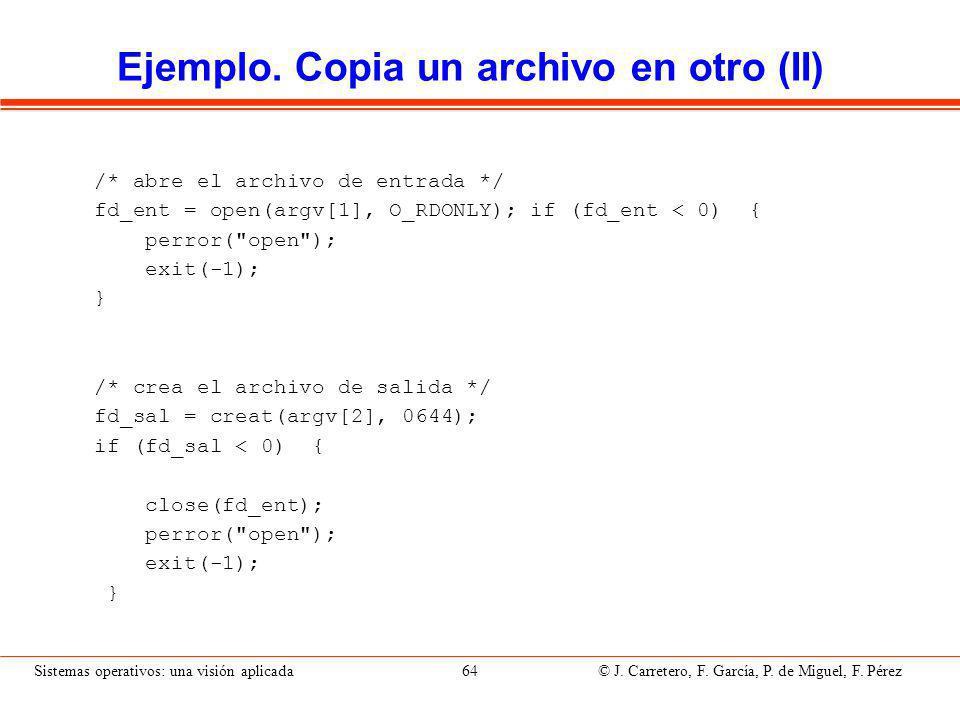 Ejemplo. Copia un archivo en otro (III)