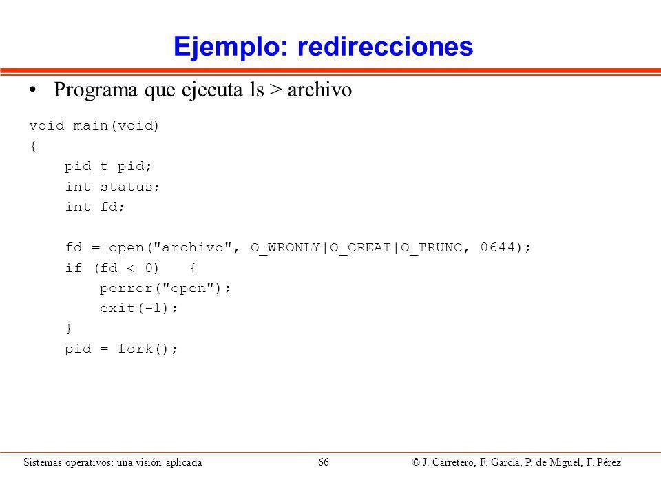 Ejemplo: redirecciones (II)