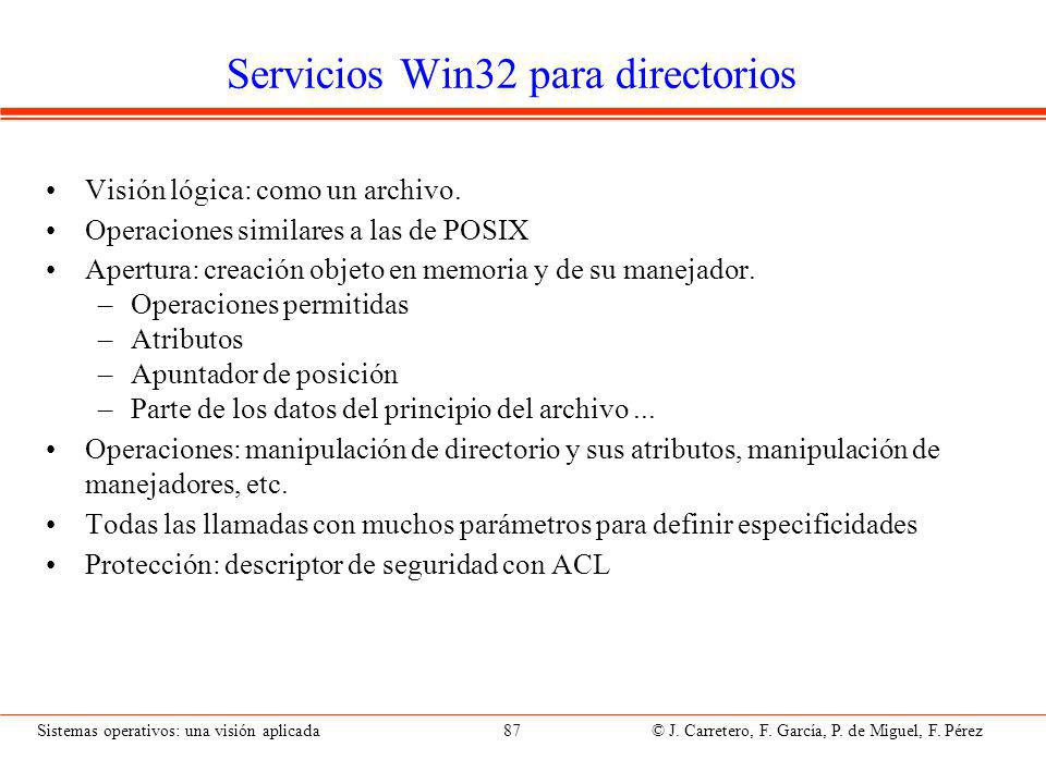 Servicios Win32 para directorios (II)