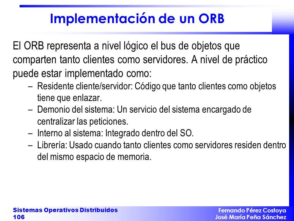 Implementación de un ORB