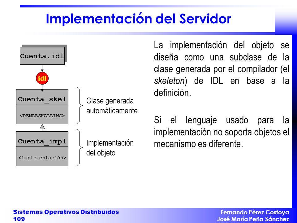 Implementación del Servidor