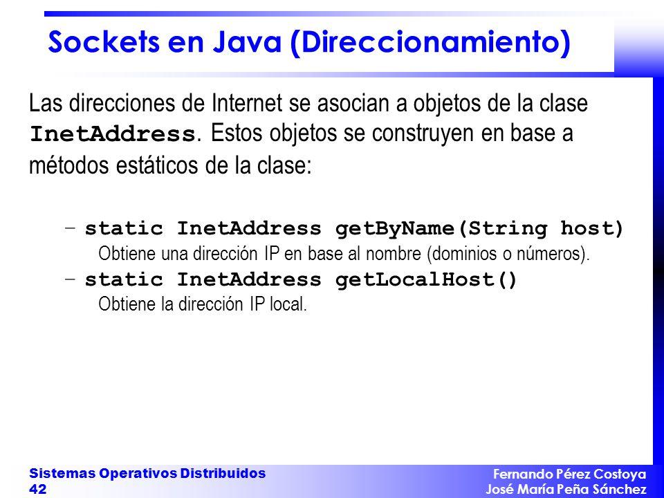 Sockets en Java (Direccionamiento)