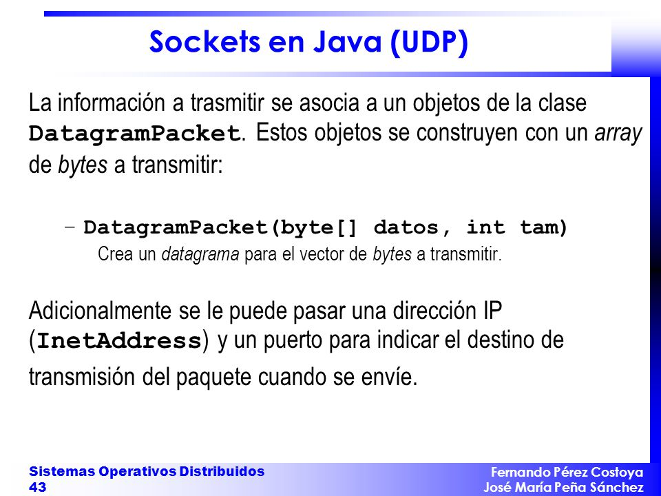 Sockets en Java (UDP)