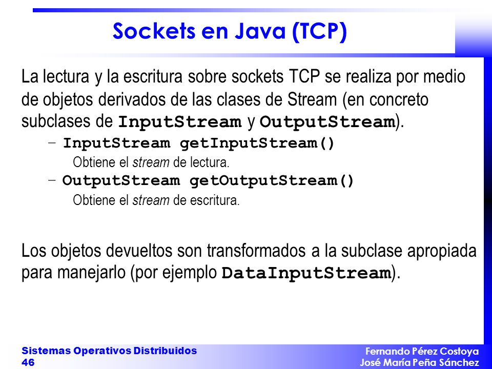 Sockets en Java (TCP)