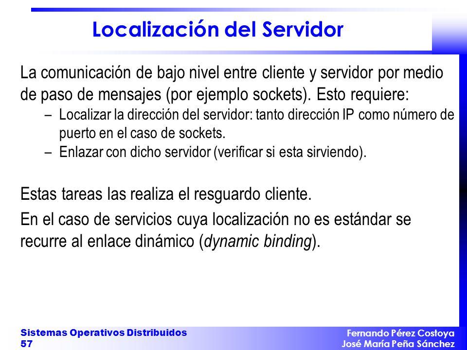Localización del Servidor