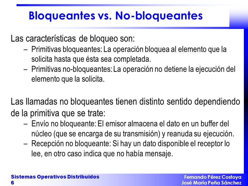 Bloqueantes vs. No-bloqueantes